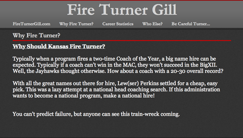Why Fire Turner