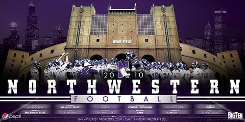 Northwestern-Wildcats-college-football-poster