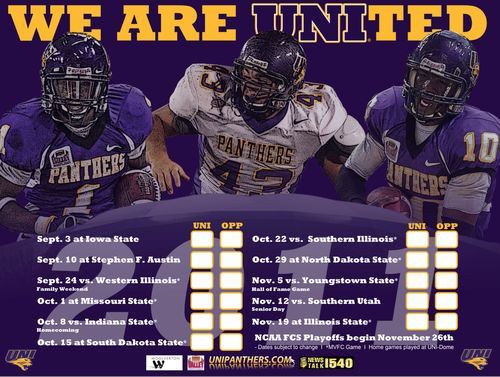 Northern Iowa poster schedule