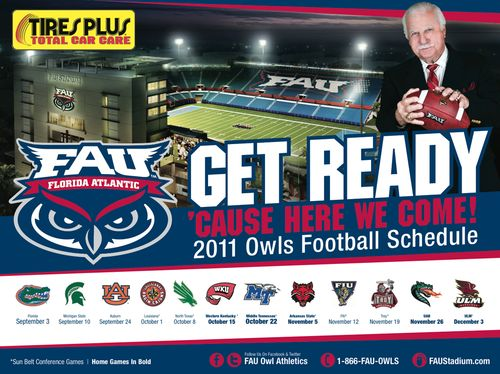 Florida Atlantic Owls poster schedule