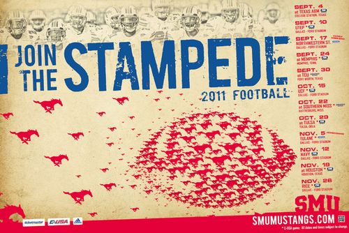 Southern Methodist poster schedule 2011