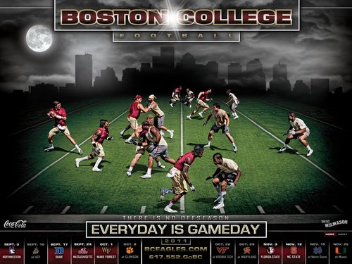Boston College Eagles 2011 poster schedule
