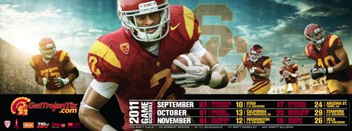 Robert Woods USC poster schedule 2011