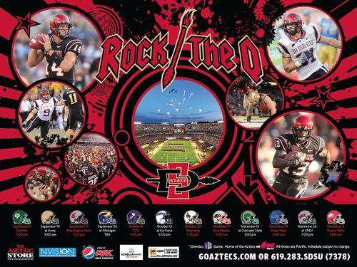 San Diego State 2011 poster schedule