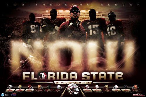 Florida State Seminoles 2011 poster schedule