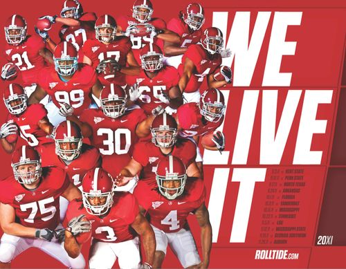 Alabama Crimson Tide 2011 poster schedule