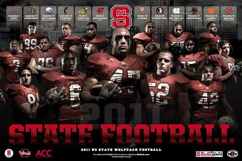 North Carolina State Wolfpack 2011 poster schedule