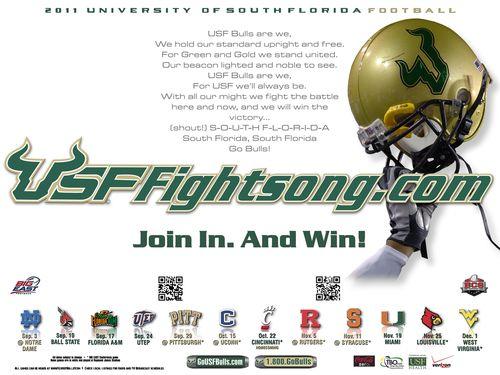 South Florida Bulls poster schedule