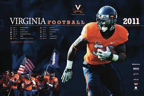 Virginia Cavaliers poster schedule