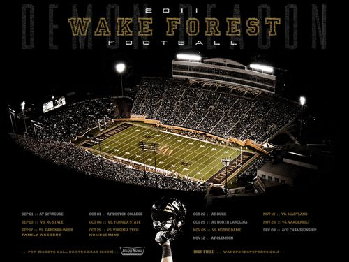 Wake Forest Demon Deacon 2011 poster schedule
