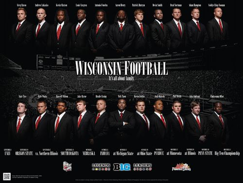 Wisconsin Badgers 2011 poster schedule