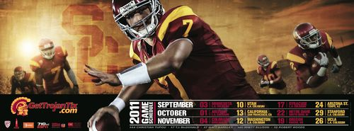 Matt Barkley USC poster schedule 2011