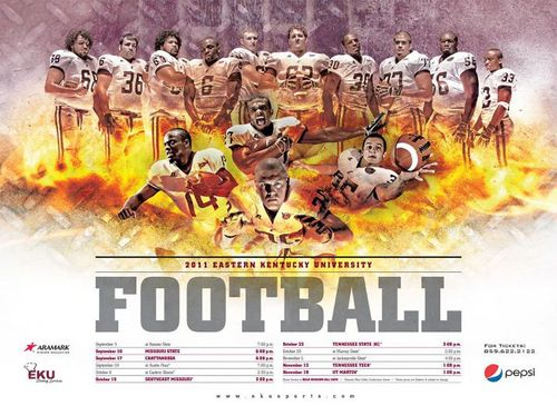 Eastern Kentucky Colonels 2011 poster schedule