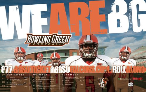 Bowling Green 2011 poster schedule
