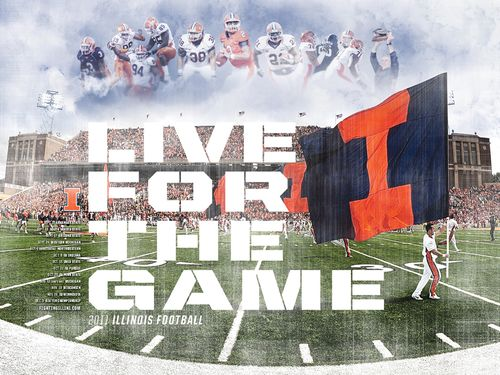Illinois Fighting Illini 2011 poster schedule