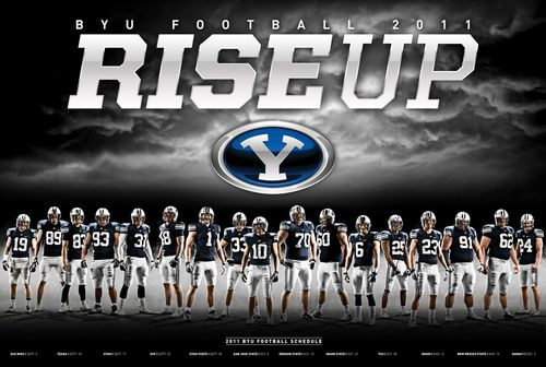 Brigham Young BYU Cougars 2011 poster schedule
