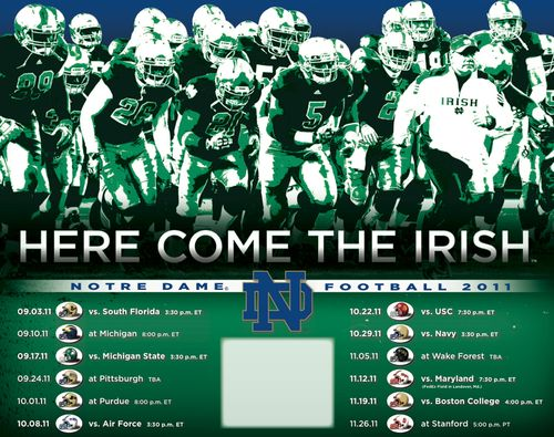 Notre dame 2011 poster schedule