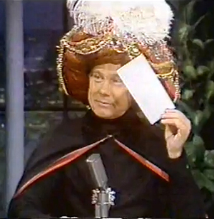 Carnac the Magnificent Johnny Carson