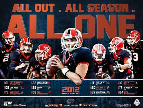 Texas El Paso 2012 poster schedule