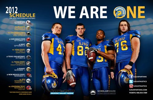 San Jose State Spartans 2012 poster schedule
