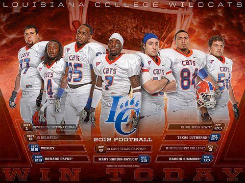 Louisiana College Wildcats 2012 poster schedule