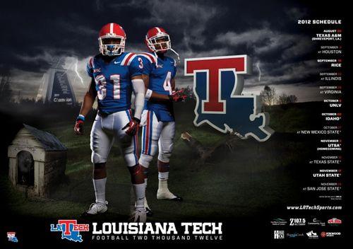 Louisiana Tech Bulldogs 2012 poster schedule