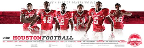 Houston Cougars 2012 poster schedule