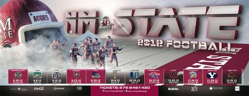 New Mexico State Aggies poster schedule