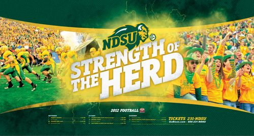 North Dakota State Bison poster schedule