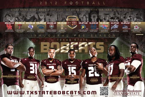 Texas State Bobcats 2012 poster schedule