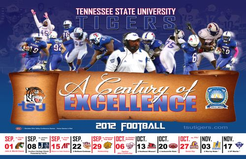 Tennessee State Tigers 2012 poster schedule