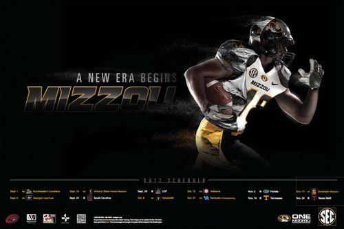 Missouri Tigers 2012 poster schedule