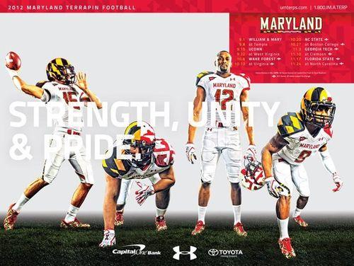 Maryland Terrapins 2012 poster schedule