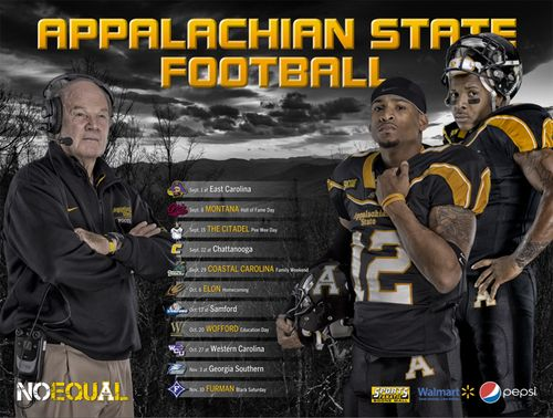 Appalachian State 2012 poster schedule