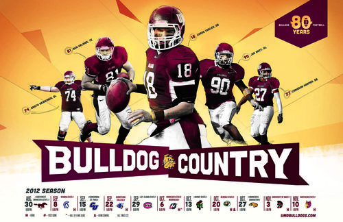 Minnesota Duluth Bulldogs poster schedule 2012