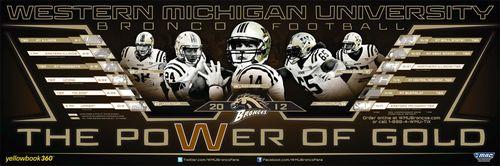 Western Michigan Broncos 2012 poster schedule