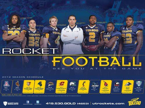 Toledo Rockets 2012 poster schedule