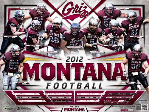 Montana Grizzlies 2012 poster schedule