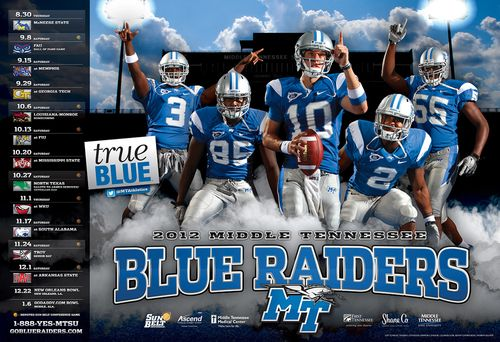 Middle Tennessee 2012 poster schedule