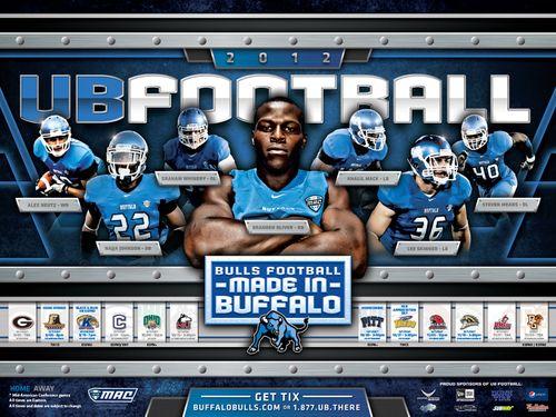 Buffalo Bulls 2012 poster schedule