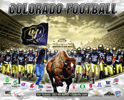 Colorado Buffaloes 2012 poster schedule
