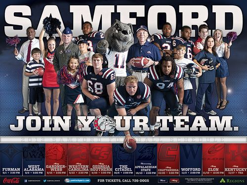Samford Bulldogs 2012 poster schedule