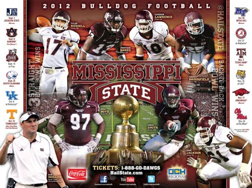 Mississippi State 2012 poster schedule
