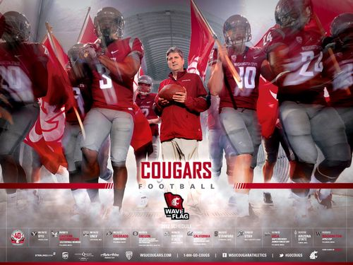 Washington State Cougars 2012 poster schedule