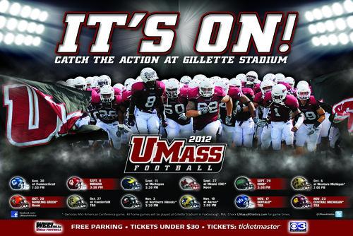 Massachusetts 2012 poster schedule