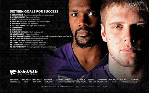Kansas State Wildcats 2012 poster schedule