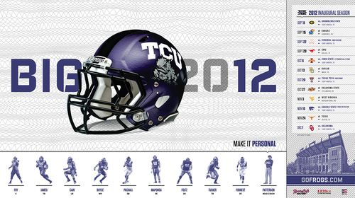 TCU Horned Frogs 2012 poster schedule