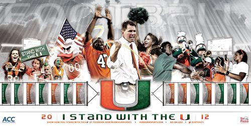 Miami Hurricanes poster schedule 2012