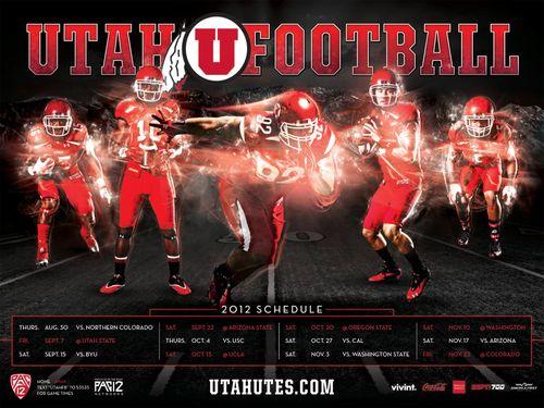 Utah Utes 2012 poster schedule
