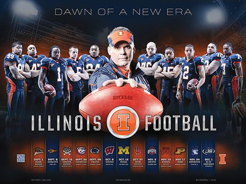 Illinois Fighting Illini 2012 poster schedule